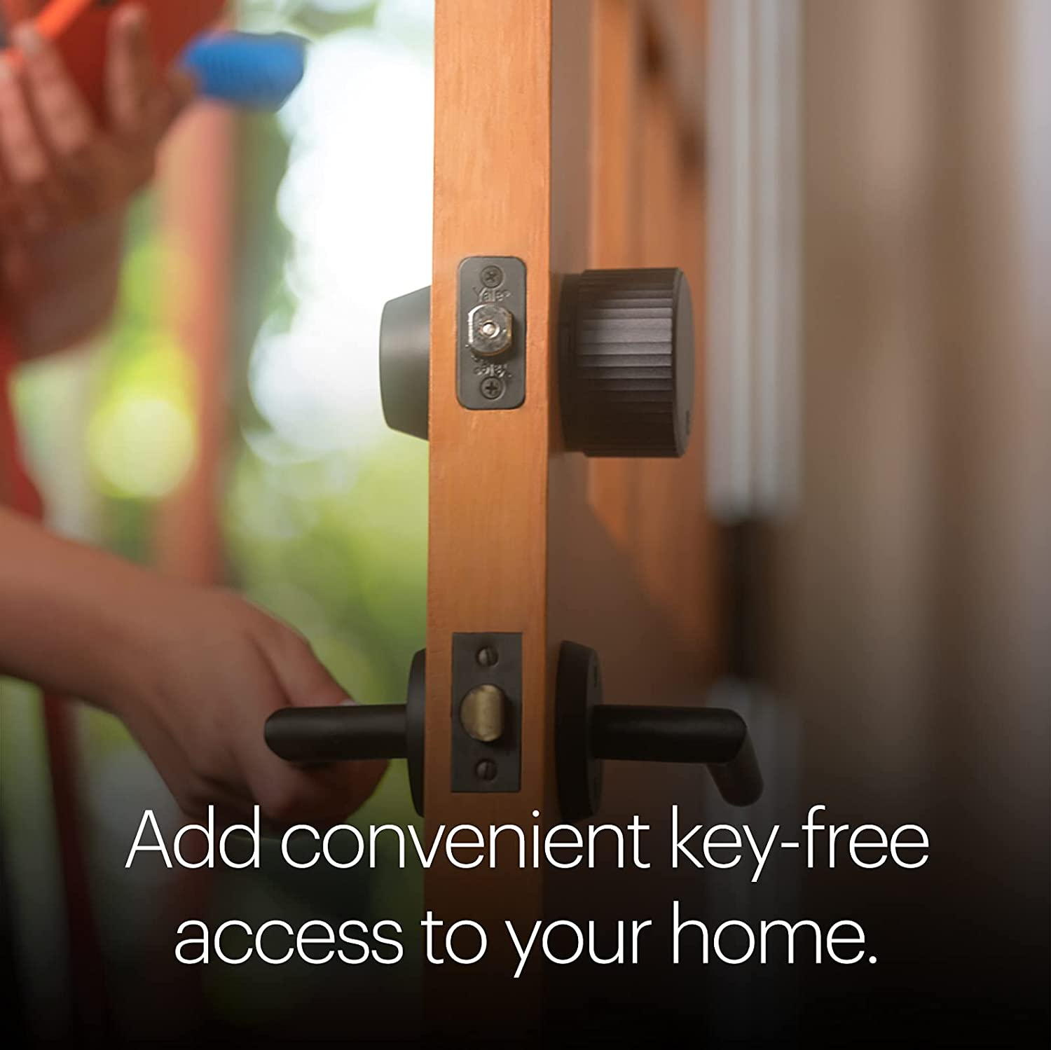 August Wi-Fi 4th Generation Smart Lock Fits Your Existing Deadbolt in Minutes Matte Black