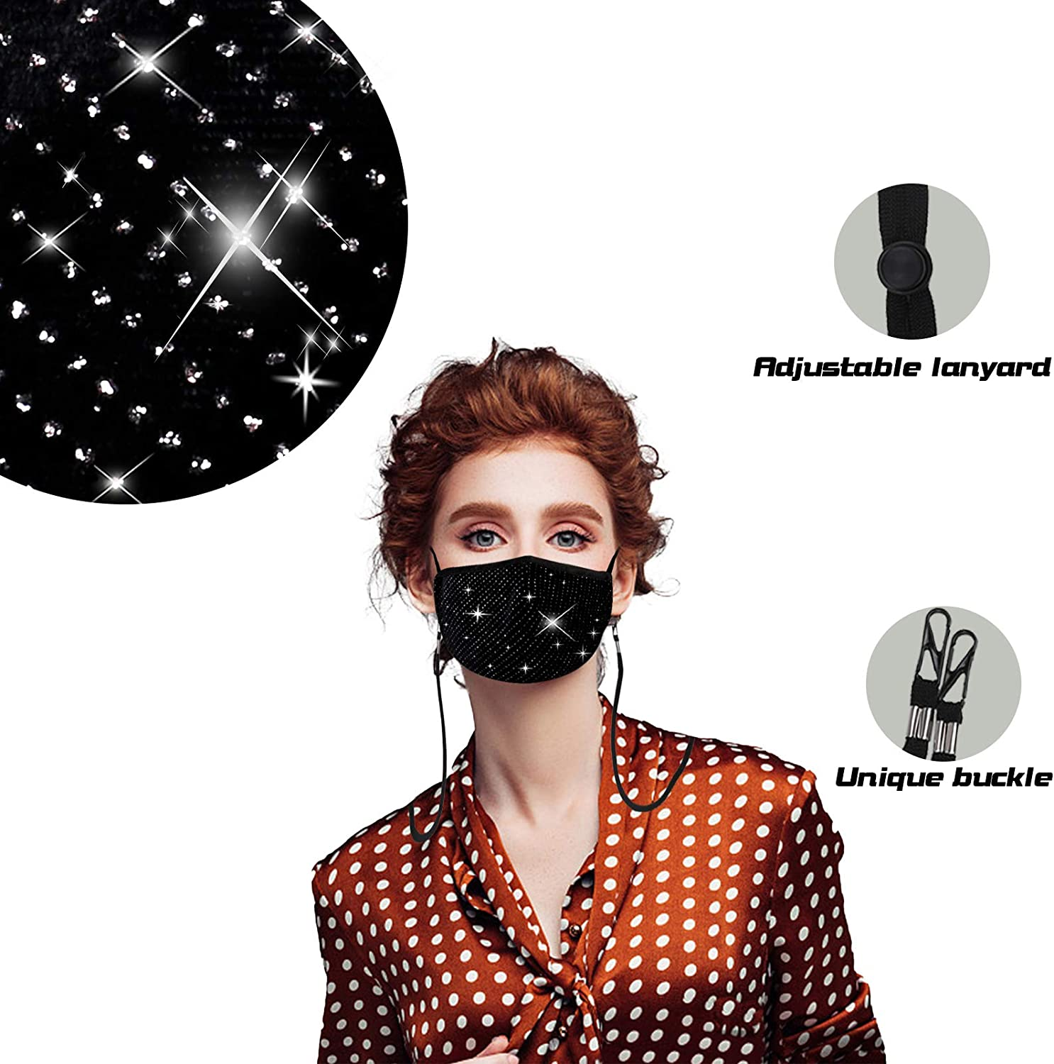 Cotton Face Mask Online Shopping Washable And Reusable 3D Shape Adjustable Earloop