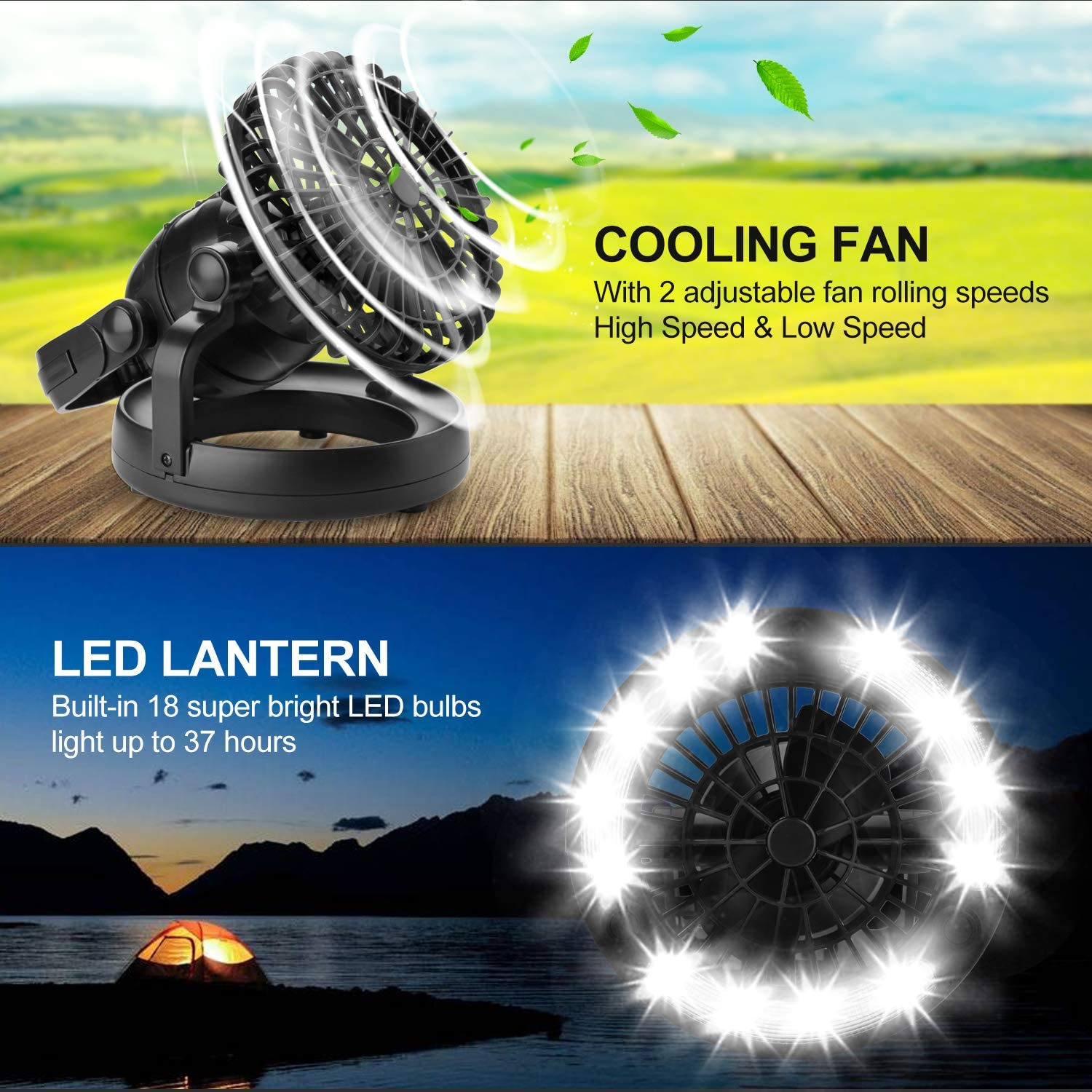 buy sell Portable LED Camping Lantern with Ceiling Fan