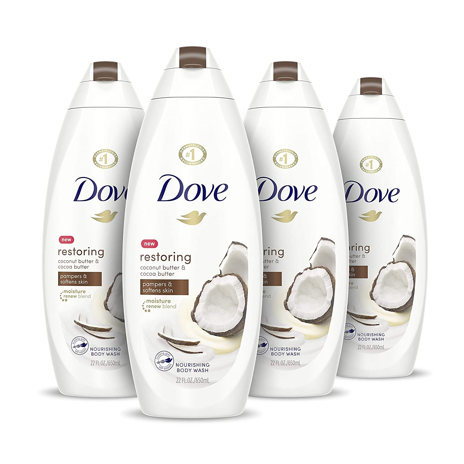 Dove Purely Pampering Body Wash for Dry Skin Coconut Butter and Cocoa Butter