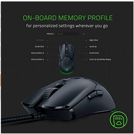 Gaming Mouse Razer Viper Mini Ultralight Fastest Gaming Switches